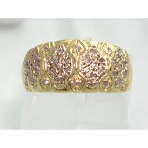Pocao2005- Anel Ouro 18k750! Pave Diamantes! Frete Grátis!