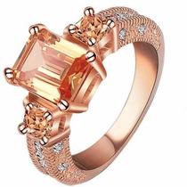 Anel Poderoso Ouro Rosê 18k - Jóia Noivado Namorada R706