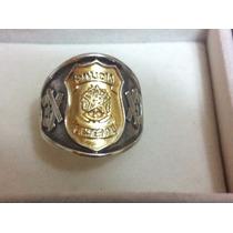 Anel Policia Federal Em Prata 950