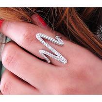 Anel Em Ouro Branco 18k/750!!! E Diamantes !!