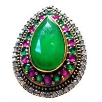 Cus-anel Gota Turquia Turco Prata 925 Rubi Esmeralda Topazio