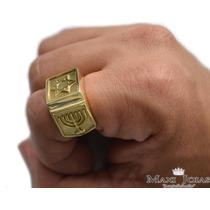 Anel Judaico / Estrela De David Em Ouro 18k (750) - An128