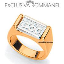 Rommanel Anel Infantil Abc Formatura Relevo Rhodium 510930