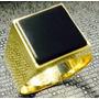 Leão Jóias Anel De Ouro 18k 7gr 10mm Pedra Onix Comendador