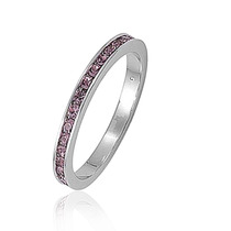 Bling Jewelry Sterling Silver Alexandrite Cz Eternity Anel