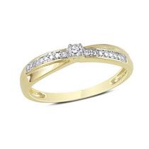 Anel Solitário Com 14 Pontos Em Diamantes Em Ouro 18 Quilate