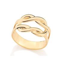 Anel Masculino Liso Tendo Laterais Ouro Rommanel 511882