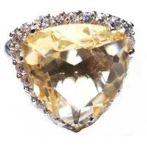 Promoção-bzh-anel Prata 925-zirconias-citrino-rodio-frete