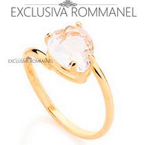 Rommanel Anel Liso Cristal Formato Coraçao Branco 511598