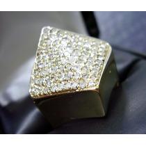 Maravilhoso Anel Em Ouro 18k Com Diamantes !!