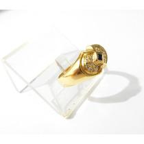 Anel 22 Diamantes Ouro 18k 750 Charles & Colvard Ouro Mesmo