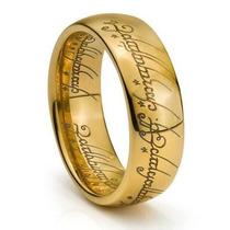 Anel Banhado A Ouro 18k Senhor Dos Anéis + Corrente