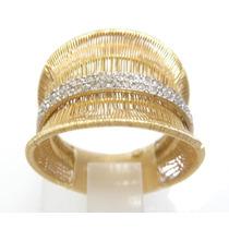 Attelierjoias Vivara Anel Esteira Diamantes Ouro 18k 750