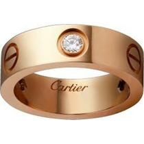 Aliança Cartier Banhada Em Ouro Rose 18 Kilates