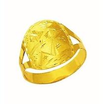 Anel Aliança Escrava Egito Trabalhado 1.5 Cm Ouro 18k Desenh
