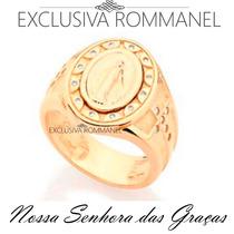 Anel Nossa Senhora Das Graças Rommanel Folheado Ouro 511475