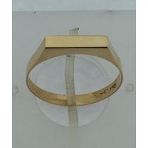 Anel De Chapinha Ouro 18k 750