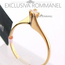 Rommanel Anel Solitario Com Zirconia Feminino 510516