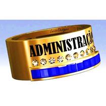 Anel Formatura / Grau Administração Prata Banhado A Ouro 18k