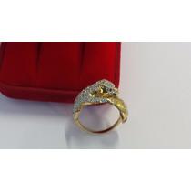 Anel Pantera Cravejado De Diamantes Em Ouro 18k *promoção**