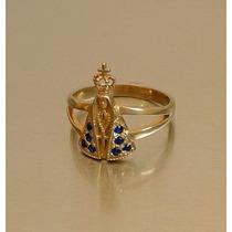 Anel Nossa Senhora Em Prata Maciça (folheada A Ouro)