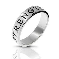 Bling Jewelry 925 Força Empilhável Amizade Anel Banda