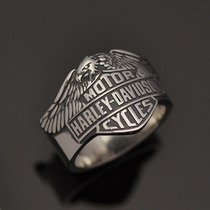 Anel Harley-davidson Águia Em Prata