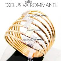 Rommanel Anel Feminino Folheado Ouro 18k 511805