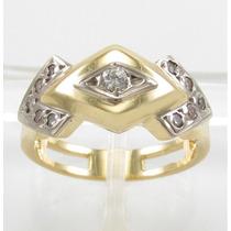 Esfinge Jóias - Anel Design Diamantes Aro13,5 Ouro 18k 750.