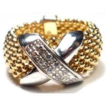 Promoção-zz88-anel Prata 925-folheado Ouro18k(plated)zirconi