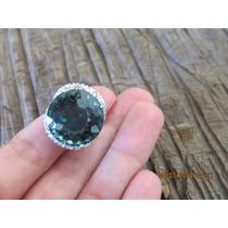 Anel Prata 925 - Ametista Verde E Topásios