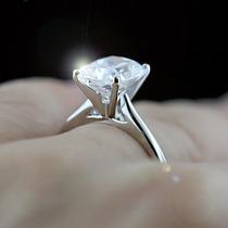 Anelsolitário Lindo E Luxuoso Diamante De 35 Pt Em Ouro 18 K