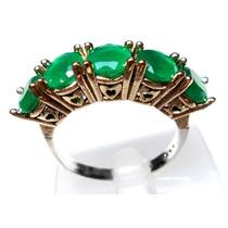 Jds-anel Meia Alianç Turquia Turco Prata 925 Jade