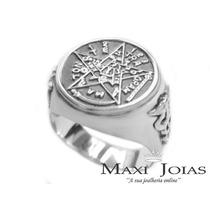 Anel Tetragrammaton Em Prata De Lei 950 (anel Pentagrama)