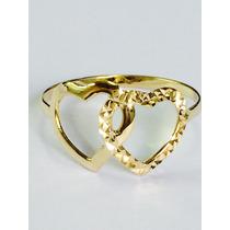 Ngold Anel Oferta Coração Entrelaçados Ouro Amarelo 18k 750