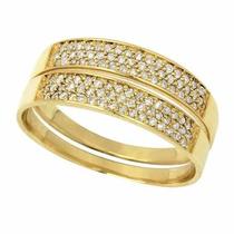 Par De Aparador Em Ouro 18k Com Diamantes