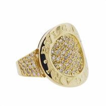 Anel Estilo Bvlgari Em Ouro 18k Com Diamantes - Cwb Joias