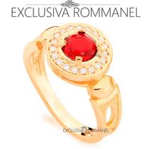Exclusiva Rommanel -lindo Anel De Formatura Zirconias 511754
