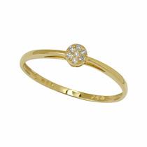 Anel Compromisso Chuveirinho Em Diamantes E Ouro 18 Quilate