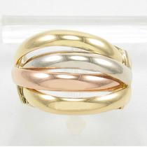 Esfinge Jóias - Anel Design Três Cores Aro17,5 Ouro 18k 750.