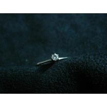 [ronqui] Anel Solitário Brilhante Diamante 3mm 9 Pontos