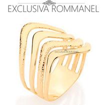 Rommanel Anel Detalhes Ondulados Granitados Folh Ouro 510831