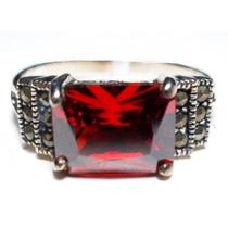 Jsy-anel Prata 925 Zirconia Tom Granada Marcassitas
