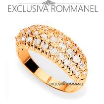 Rommanel Anel Formato Pave Cravejado Por 31 Zirconias 510676