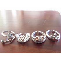 Anel Prata 925 Tipo Pandora Coração Ajustavel Com Zirconia