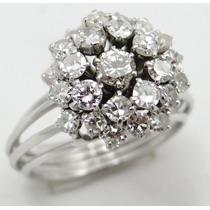 Feliz Joias - Anel Chuveiro De Platina Com Diamantes