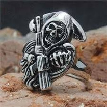 Anel Ceifador Sons Of Anarchy Skull Morte : Frete Gratis
