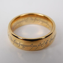 O Um Anel - Senhor Dos Anéis - Tungstênio Folheado A Ouro