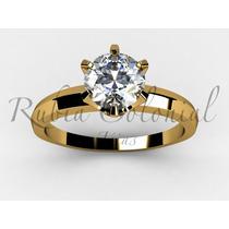 Anel Solitário - Ouro - Diamante - 1 Quilate.