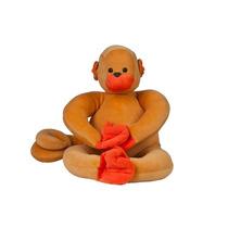Macaco Barrigudinho Mamãe - Bichos De Pano - Pelucia